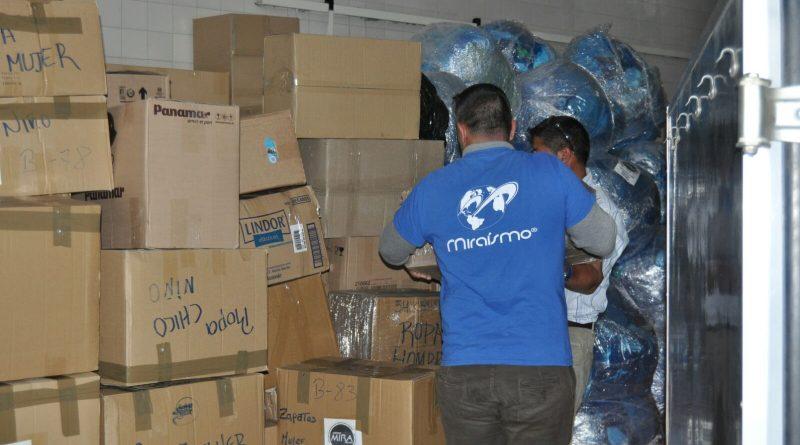 Amigos Mira España, Recogiendo ayudas para Ecuador