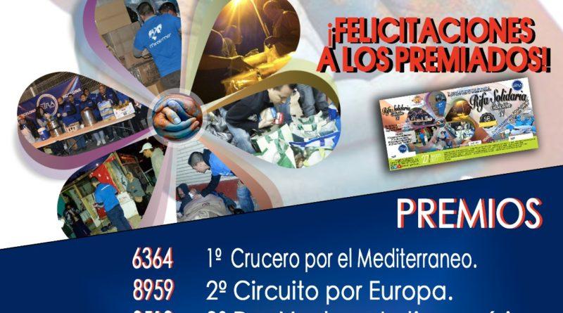 Resultados Rifa Solidaria IV Edición