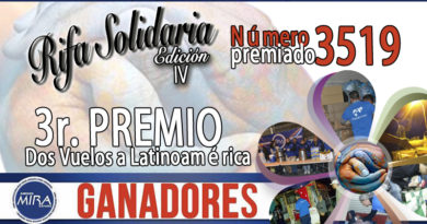 3r PREMIO RIFA SOLIDARIA Edición IV
